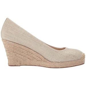 J. Crew Seville Beige Espadrille Wedge Shoes 8